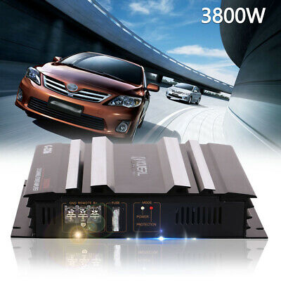 2Channel 3800W Car Audio Power Amplifier Bass Box Amplifier Under Seat Subwoofer