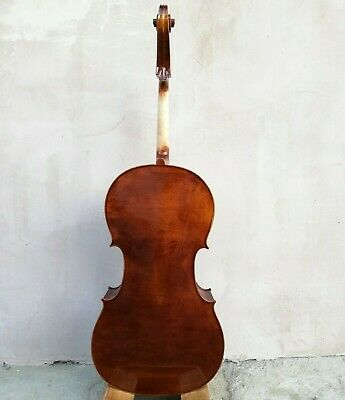Unbranded One Piece Back Cello Stradivari 4/4 handmade from Solid Wood in Europe