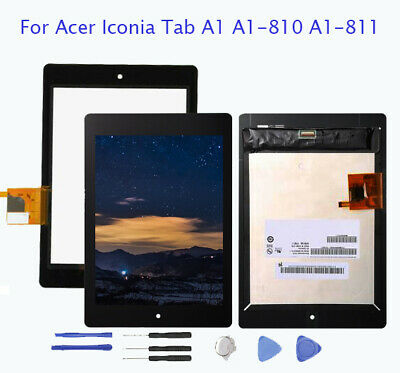"Pour Acer Iconia Tab A1 A1-810 7.9"" LCD Display Touch Screen Écran Replacement H"