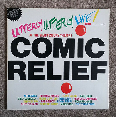 Utterly Utterly Live Comic Relief LP Record 1986