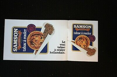 2 Autocollants  Sticker Vintage Annee 1978 : Samson Tabac A Rouler