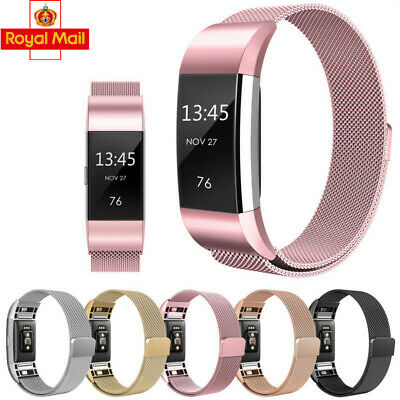 For Fitbit Charge 2 3 Strap Replacement Milanese Band Stainless Steel Magnet OS