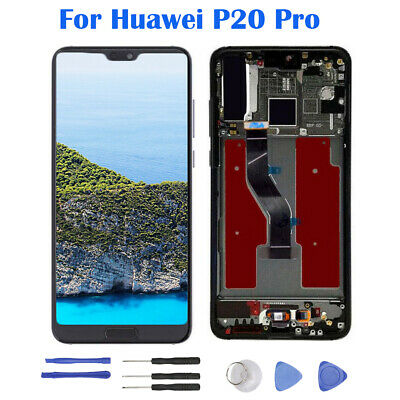 Pour Huawei P20 Pro LCD Display Touch Screen Écran tactile Digitizer+Frame H2FR