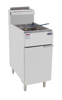 Commercial Gas Deep Fryer With 2 Basket, Cookrite Atfs-40. Oil Capacit
