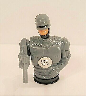 Vintage Brand New 1990 Topps Robocop Candy Dispensers With Moving Arm Free Ship