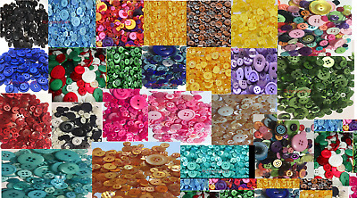 100 bulk buttons single colour 8~30mm Crafts Sewing Christmas School