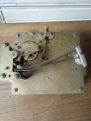 Vintage Unbranded Westminster Chime 8 Day Clock Movement ( Spares Or Repair)