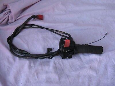 Honda X11  HANDLE BAR SWITCH AND THROTTLE COMPLETE