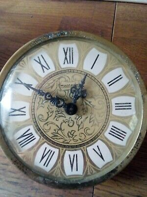 Vintage Meicedes ( German) Clock Movement With Dial  ( spares or repair only)