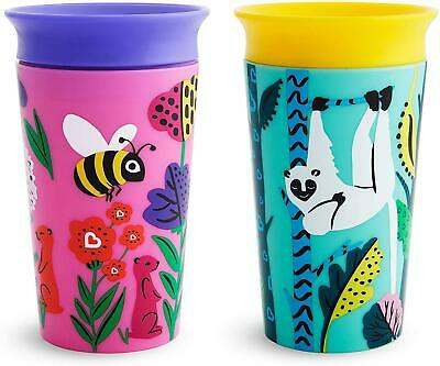 Munchkin Miracle 360 Eco Sippy Cup Bee Lemur 266ml 2pk