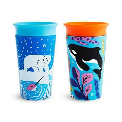 Munchkin Miracle 360 Eco Sippy Cup Orca Polar 266ml 2pk