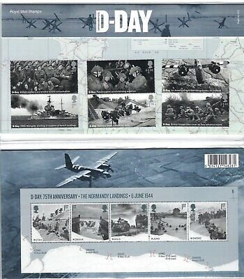 GB 2019 : ROYAL MAIL D-DAY 75th ANNIVERSARY PRESENTATION PACK No. 572 MINT.