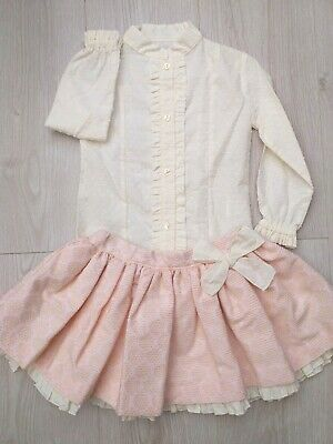 A Girls Spanish Romany Skirt Set baby Pink Age 8 years