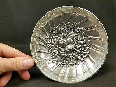 "Antique S. Kirk & Son Sterling Silver Repousse' Footed Bowl #431 5 3/4"" Diameter"