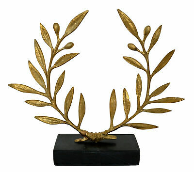 Bronze Olive Wreath on marble base - Ancient Greek Olympic Games Prize Kotinos