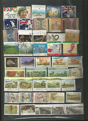 AUSTRALIA USED STAMP COLLECTION 1988- (values to $20)