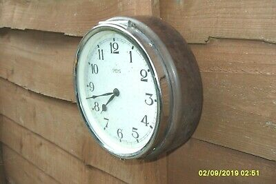 Smiths Wall Clock Coach Bus 1940 'S 50'S Bakelite Key Wound Very Rare To Find