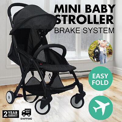 Compact Lightweight Baby Toddler Stroller Pram Easy Fold Travel Carry on Plane