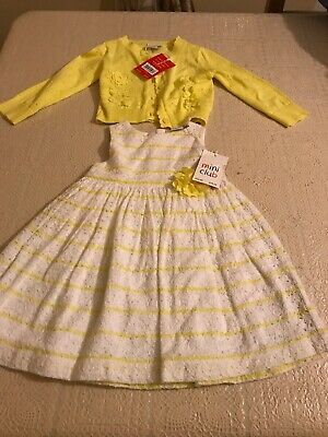 Boots Mini Club Dress And Cardigan Baby Girls  New 6-9 Months