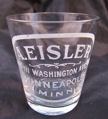 A . EISLER MINNEAPOLIS MINNESOTA  SHOT GLASS White Lettering