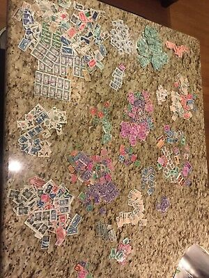 Huge Off Paper United States Postage Stamp Lot Nearly 2000