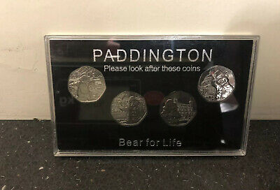 2018 & 2019 Paddington 50p Display Case For With All 4 Coins. Tower, Cathedral.
