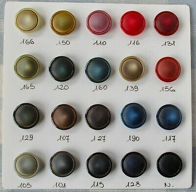"""Card of 20 Vintage 1 1/16"""" Self-Shanked Plastic Buttons"""