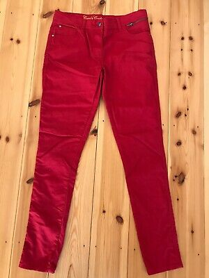 NEW - Candy Couture Girls Slim Leg Trousers - Colour Red - Age 16 Years