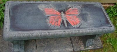 """Cement Concrete Bench Mold  1/8"""" Top Butterfly Bench Mold"""
