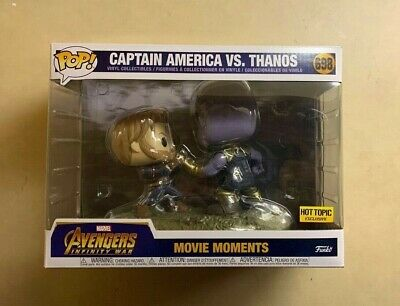 Funko POP Captain America vs.Thanos War Hot Topic Exclusive Movie Moment #698