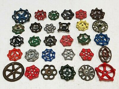 30 *D Vintage Water Faucet Knob Valves Handle Steampunk Industrial Arts Crafts