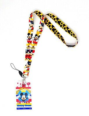 Disney Mickey Lanyard With Card Holder