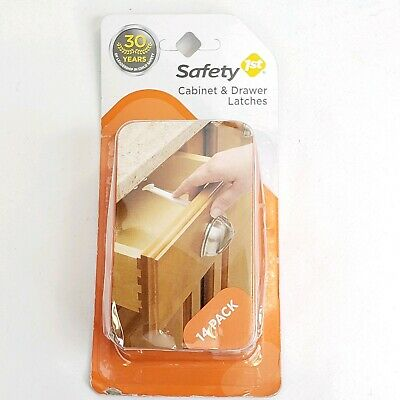 Safety 1st Cabinet & Drawer Latches for Baby/Child Proofing- 14pcs
