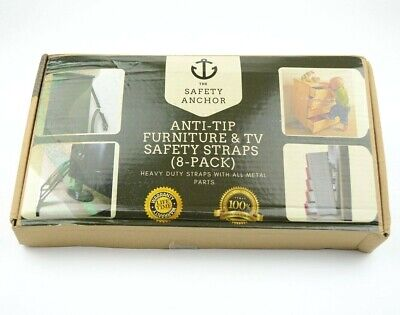 8 Pack Anti Tip Furniture & TV Safety Straps All Metal Parts The Safety Anchor