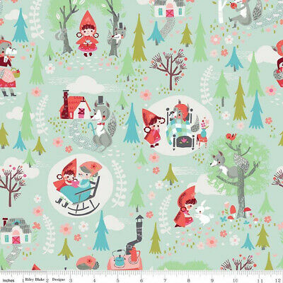 Little Red Riding Hood in the Woods Main Mint - Riley Blake Cotton Fabric