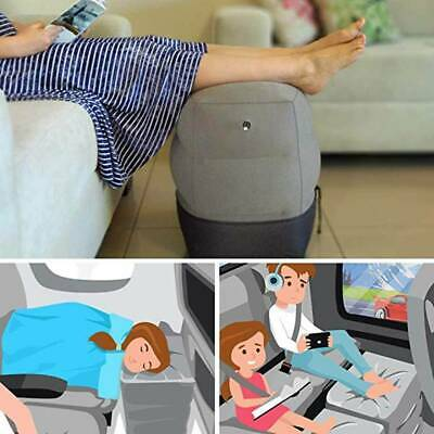 Inflatable Travel Footrest Leg Foot Rest Air Plane Pillow Pads Kids Bed Portable