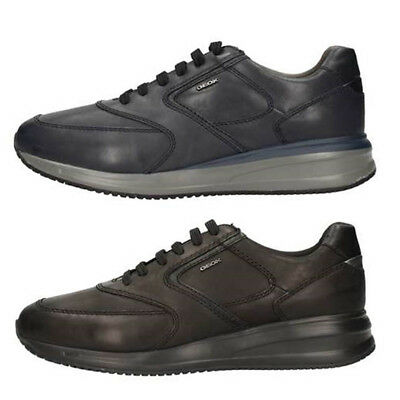GEOX DENNIE U620GB Navy Stone Men's Shoes Sneakers Leather