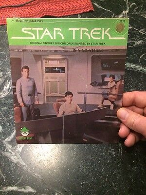 "Star Trek 45 rpm Peter Pan Record 7"" Vinyl Sealed Mint 1979 Rare 1513 Vtg Shrink"