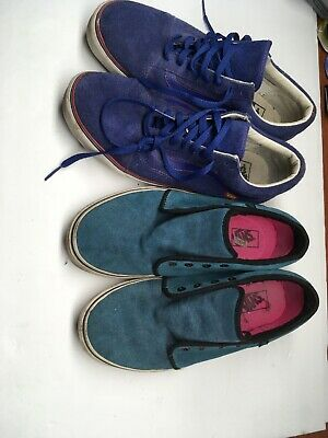 Two Pairs Of Van Shoes Mens Size 12