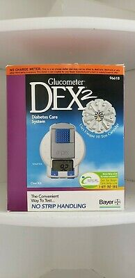 Dex2 Glucometer 9661B Diabetes Care System Blood Glucose Meter 3952H Bayer