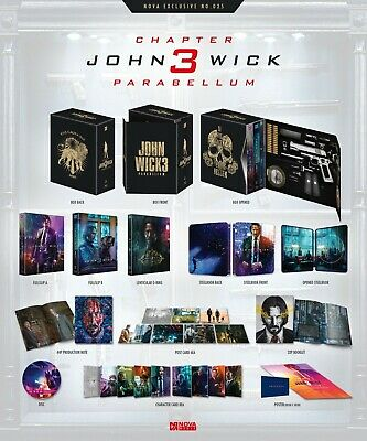 John Wick: Chapter 3 Parabellum Blu-ray SteelBook Novamedia #25 One Click Box