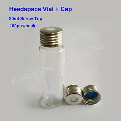 100 pcs/ Pack 20ml Head Space Gas Chromatography Bottle Replace for Agilent ASTM