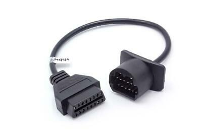 PKW Diagnose Adapter OBD1 / OBD2, 17pin >>> 16pin, 30cm