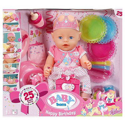 BABY BORN Happy Interactive Happy Birthday Girl Doll 25 Years Anniversary Doll