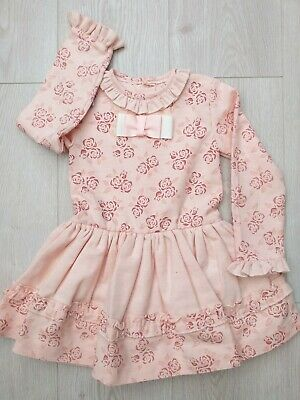 Girls Dress Pink Floral Spanish Romany dress 6 years