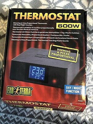 Exo Terra Dimming & Pulse Proportional Thermostat with Day/Night Function - 600