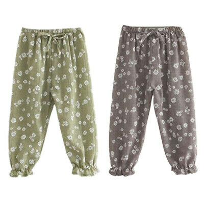 Kids Children Baby Girls Trousers Child Casual Floral Bloomers Harem Pants  Q3V6