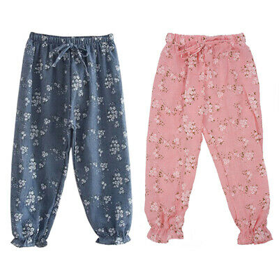 Children Kids Baby Girls Trousers Child Casual Floral Bloomers Harem Pants  K8F2