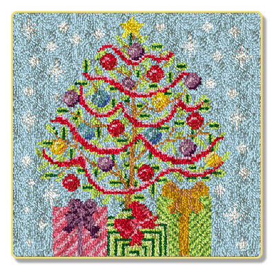 "Latch Hook Kit""Christmas Tree and Presents"""" 65x64cm"