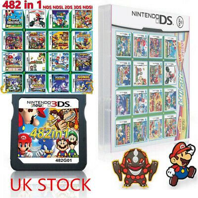 482 in 1 Multi Cartridge for NDS NDSL 2DS 3DS 3DSLL NDSI Video Game Super Mario